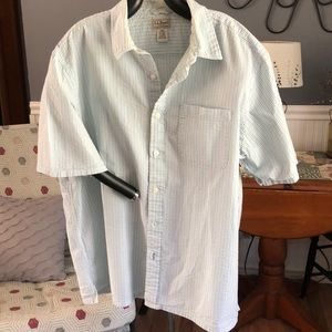 LLBean men's searsucker button up shirt